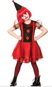 Halloween Clown Costumes Scary Girls Freaky Halloween Clown Fancy Dress Costume Scary Clown Ages