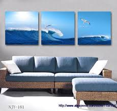 decor painting free shipping modern home decor canvas art blue abstract painting on