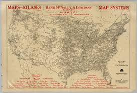 United States Map With Mileage Scale by Mileage Map Of The United States David Rumsey Historical Map