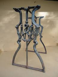 cast iron table bases for sale antique american industrial cast iron table base legs treadle inside