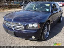midnight blue dodge charger midnight blue pearl 2006 dodge charger sxt slate gray