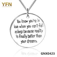 sterling silver engravable jewelry yfn 2016 new 925 sterling silver inspiring message necklace for