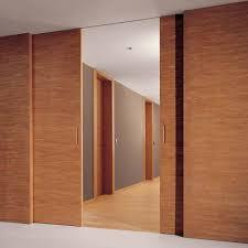 indoor door sliding wooden for public buildings decor bd
