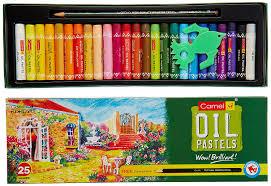 Pastel Colours Camlin Kokuyo Oil Pastel Free 1 Drawing Pencil 25 Shades
