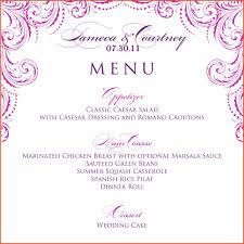 download wedding invitation templates word free menu templates