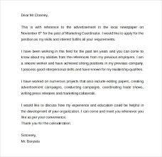 sample cover letter for marketing coordinator 402