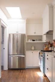 how to make cabinets appear taller kitchen cabinet soffit space ideas apartment therapy