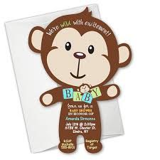 designs elegant monkey baby shower invitations templates with