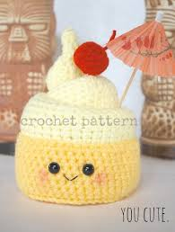etsy crochet pattern amigurumi crochet pattern pineapple whip dole freeze tiki juice bar dole whip