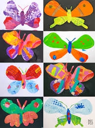painted paper butterflies butterfly eric carle and butterfly