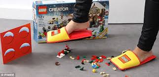 adult legos lego creates extra padded slippers to prevent adults from getting