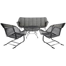 Landgrave Patio Furniture by Furniture Charming Lounge Set In Gray Made Of Iron By Woodard