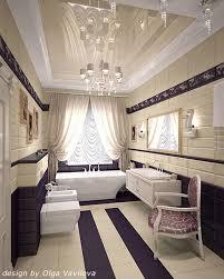 deco bathroom ideas deco bathroom in purple and white curtain deco