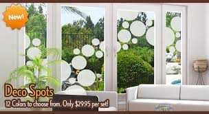 deco spot static cling circles for decorating windows and doors