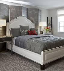 cream and silver bedroom ideas furry black rug sleek black bed