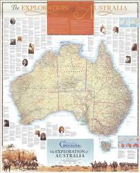 Australian Map Australian Exploration Map Australian Geographic