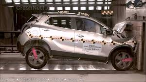 buick opel 2013 buick encore opel vauxhall mokka frontal crash test by
