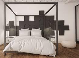 chambre lit baldaquin design interieur chambre adulte blanche lit baldaquin coussins