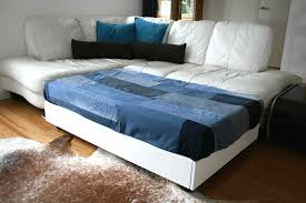 sofa bed with storage box diy sofa family bed with upcycled denim cover luz patterns