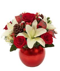White Roses In A Vase Holiday Celebration Ornament At From You Flowers