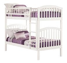 amazon com richland bunk bed twin over twin white kitchen u0026 dining