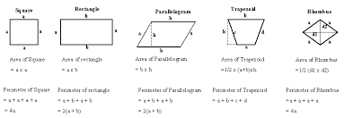 area of quadrilateral using pictures geometry kwiznet math