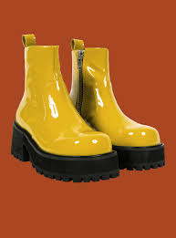 s yellow boots unif dada boot yellow