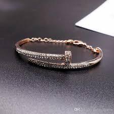 rose gold swarovski crystal bracelet images Swarovski screw swan bangle necklace of crystal luxury brand jpg
