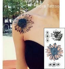 aliexpress com buy ft02 sunflower temporary body tattoo daisy