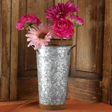 Galvanised Vases Floral Containers Floral Supplies Craft Supplies