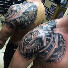 20 cool biomechanical tattoos mybodiart com