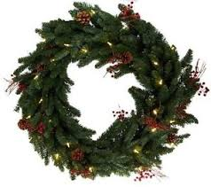 bethlehem lights 36 berry and pine oversized wreath with clear