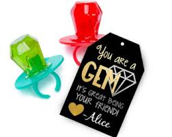 personalized ring pops ring pops etsy