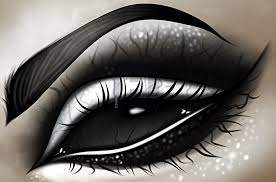 how to draw a dark eye tattoo step by step drawing guide by