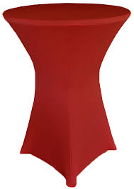 Spandex Table Cover Apple Red Cocktail Highboy Spandex Table Covers 30 Inch