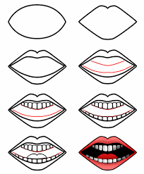 drawing a cartoon mouth