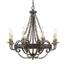 Shop Cascadia Lighting 4 Light - shop cascadia lighting mallory 30 in 8 light fossil stone vintage