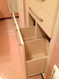 Bathroom Cabinet With Built In Laundry Hamper Mike And Lindsey U0027s Pink Master Bathroom Remodel Artfully