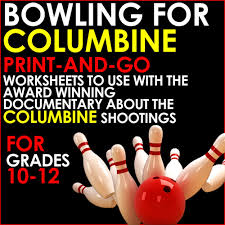 bowling for columbine print and go worksheets for analysis of