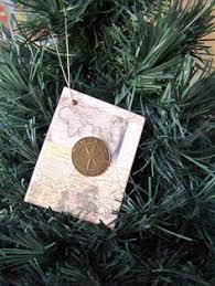 Christmas Book Ornaments - map ornament christmas book ornament map and compass design