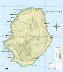 Map Of The South Map Of Niue Small Island Country In The South Pacific Ocean 2000