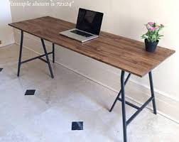 Ikea Metal Table Long Narrow Desk Table On Ikea Legs Choose Any Size Free