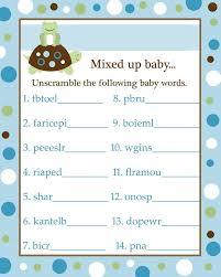 Free Baby Shower Scramble Games - 22 best baby shower games images on pinterest free baby shower