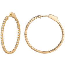 Name Hoop Earrings Gold Hoop Earrings With Name Inside Diamond Inside Out Hoop