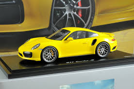 porsche yellow porsche 911 turbo s 991 ii racing yellow 1 18 car model