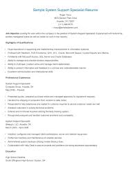 technical support specialist resume sample sample system support specialist resume resame pinterest explore resume parks and more sample system support specialist resume