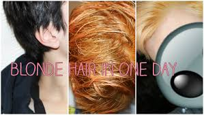 black hair to blonde hair transformations dyed black hair to blonde in one day youtube