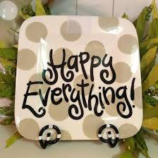neutral dot happy everything mini platter tin roof gift shop