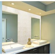 mirror tiles for bathroom walls mother of pearl tile bathroom mirror wall backsplash