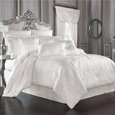 solid white comforter set bianco puff jacquard solid white comforter bedding by j queen new york